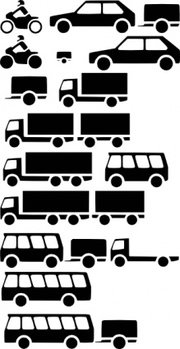 Container Truck Vehicles Silhouette