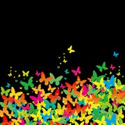 Flat Painted Butterfly Background