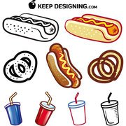 HOT DOG en drinken gratis VECTORS.eps