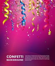 Colorful Confetti Vector Background For Birthday Celebration