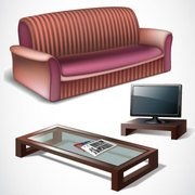 Vector furniture designs for living rooms