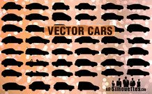 46 coches de vector