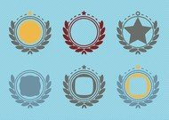 Retro Emblem Badge Decorations