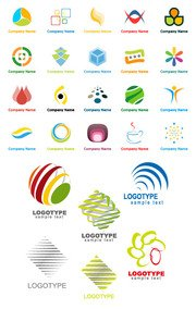 Variety of graphic logo template