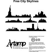 CITY SKYLINES VECTOR SILHOUETTES.eps