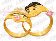 Cartoon style vector ring material