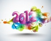 New Year Abstract 2012 with Colorful Design