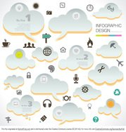 Cloud Infographic Vectors