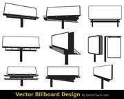 Free Blank Advertising Billboard Vector Art
