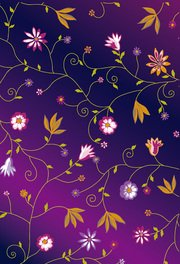 Cute colorful little flowers vector background material