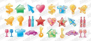 Vector colorful material for daily use