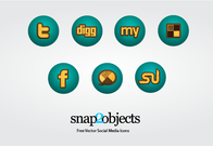 Free Wooden Vector Social Media Icons