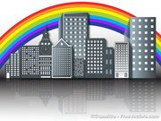 Rainbow Over the Buildings