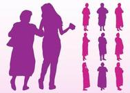 Elderly Women Silhouettes Graphics