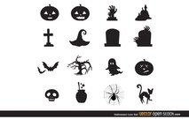 Halloween pictogrammenset