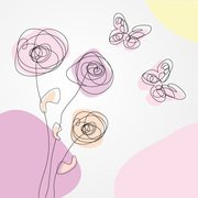 Spring Scribble: Flowers & Butterflies