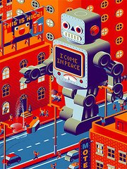Robot on the road