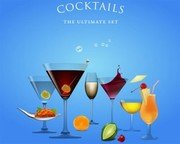 Stock Illustrations: Cocktails the Ultimate Set .Vector