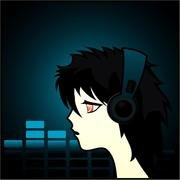 GIRL WITH HEADSET VECTOR CLIP ART.eps