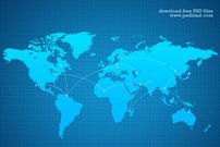Vector World map background (PSD)