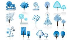 Winter Trees Vector Nature Winter Trees