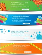 Webinhoud decoraties Vector 2 kop
