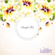 Bright Hawaiian Flower Summer Background