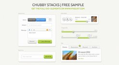 Chubby Stacks UI Kit - Submitted by Pixel Kit