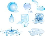 Water Drops Design Elements