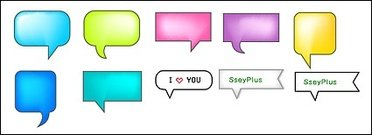 SseyPlus vector material - exquisite dialogue bubble