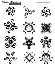 12 Decorative Free Vector Elements Edition 7
