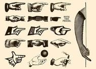Retro Hands Vectors