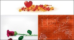 Maple Leaf rose heart-shaped wall material
