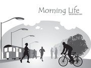 Free Vector Illustration of Morning Life