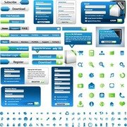 Web Design Elements Vector Set