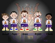 Basketball Vector First Five Pack