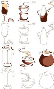 abstract graphics vector 2 coffee