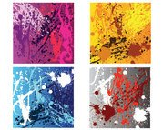 Grunge abstract splashes of paint