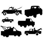 TRUCK VECTOR SILHOUETTES.eps