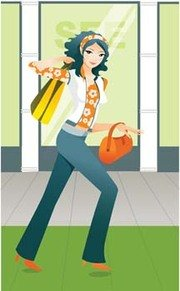 Shopping girl 1