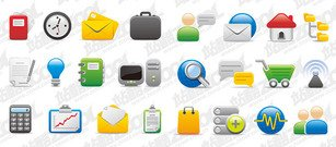 Computer networks and office icons