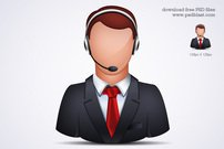 Online Customer Support Icon (PSD)