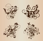 Floral Ornament Elementen Vector Set