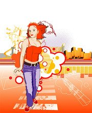 Urban Life Vector material the tide of