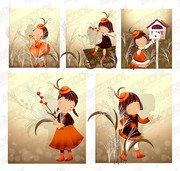 Reed theme (South Korea iClickart Four Seasons cute girl alb