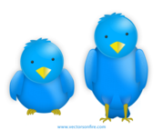 Chubby Twitter Birds by Aravind Ajith (2 Icons)
