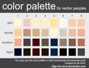 Skin Tone Color Palette Design in Vector Eps Format
