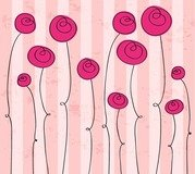 Abstract Hand drawn Romantic Flowers