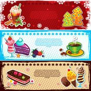 Beautiful Christmas dessert banner 01