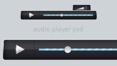 Stylish Black Audio Player PSD